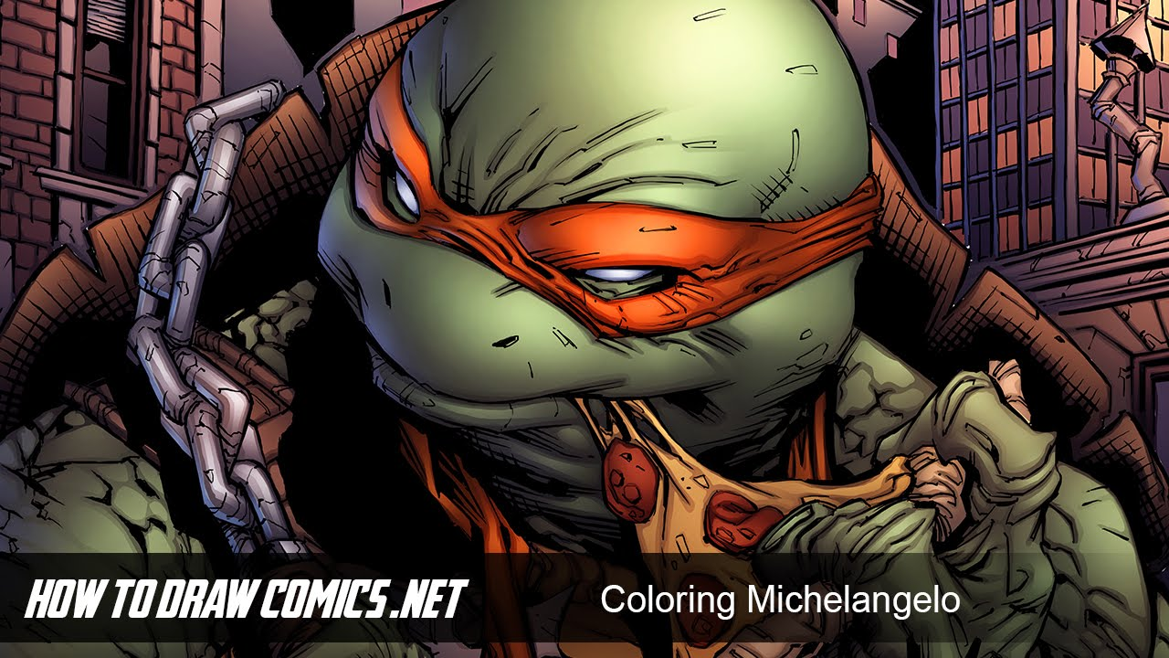 How To Draw Comics Michelangelo Colors Youtube