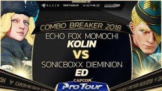 Echo Fox Momochi (Kolin) vs. SonicBoxx Dieminion (Ed)  - Combo Breaker 2018 Pools -  SFV - CPT 2018