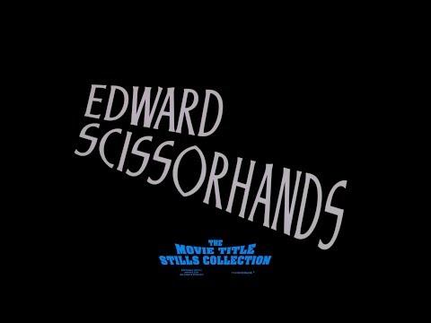 Edward Scissorhands (1990) title sequence