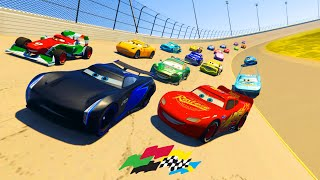Race Cars Daytona McQueen Jackson Storm  Francesco The King Chick Hicks Cruz and Friends  & Songs