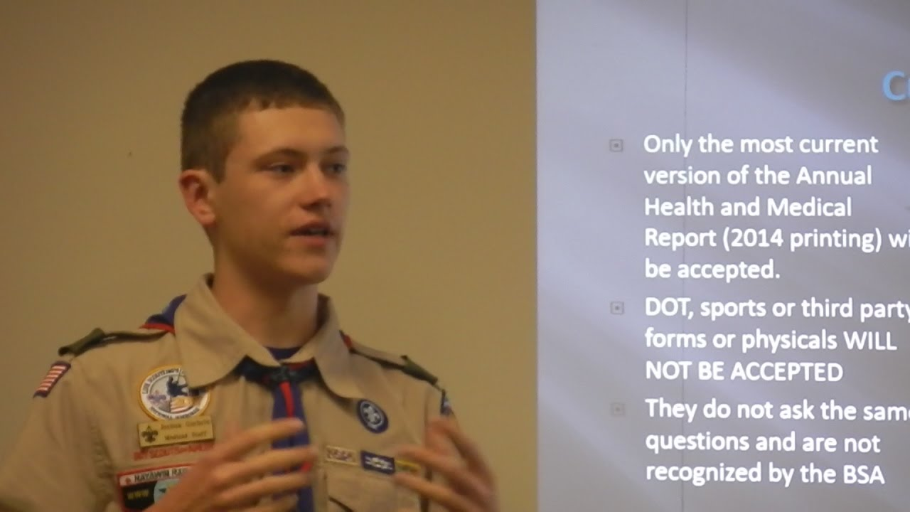 BSA Medical Forms for Unit Leaders | March Neusiok District Roundtable  presentation
