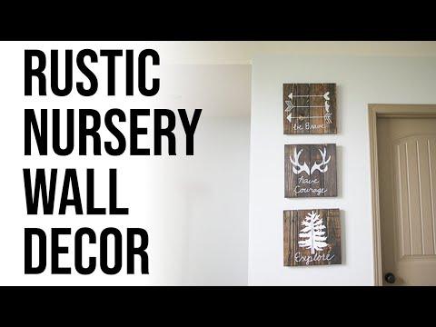 DIY Rustic Woodland Boy Nursery Decor and Wall Art - YouTube