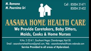 Home Health Care Hyderabad jobs for carers and Baby sitters