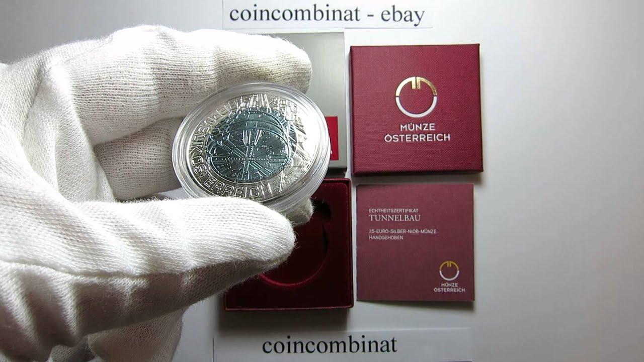 25 Euro 2013 Tunnelbau Niob Silber Münze österreich Austria Mint