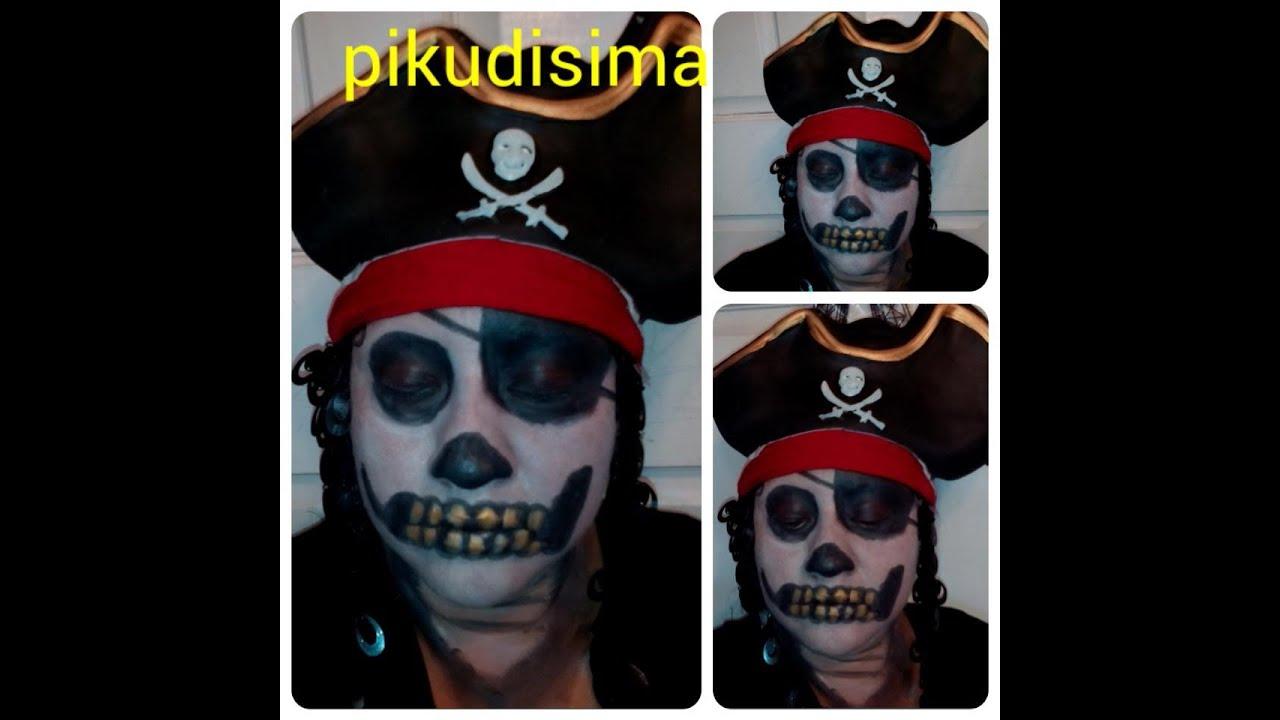 maquillaje pirata fantasma