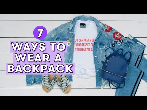 7 Cute Ways to Wear a Backpack | Style Lab