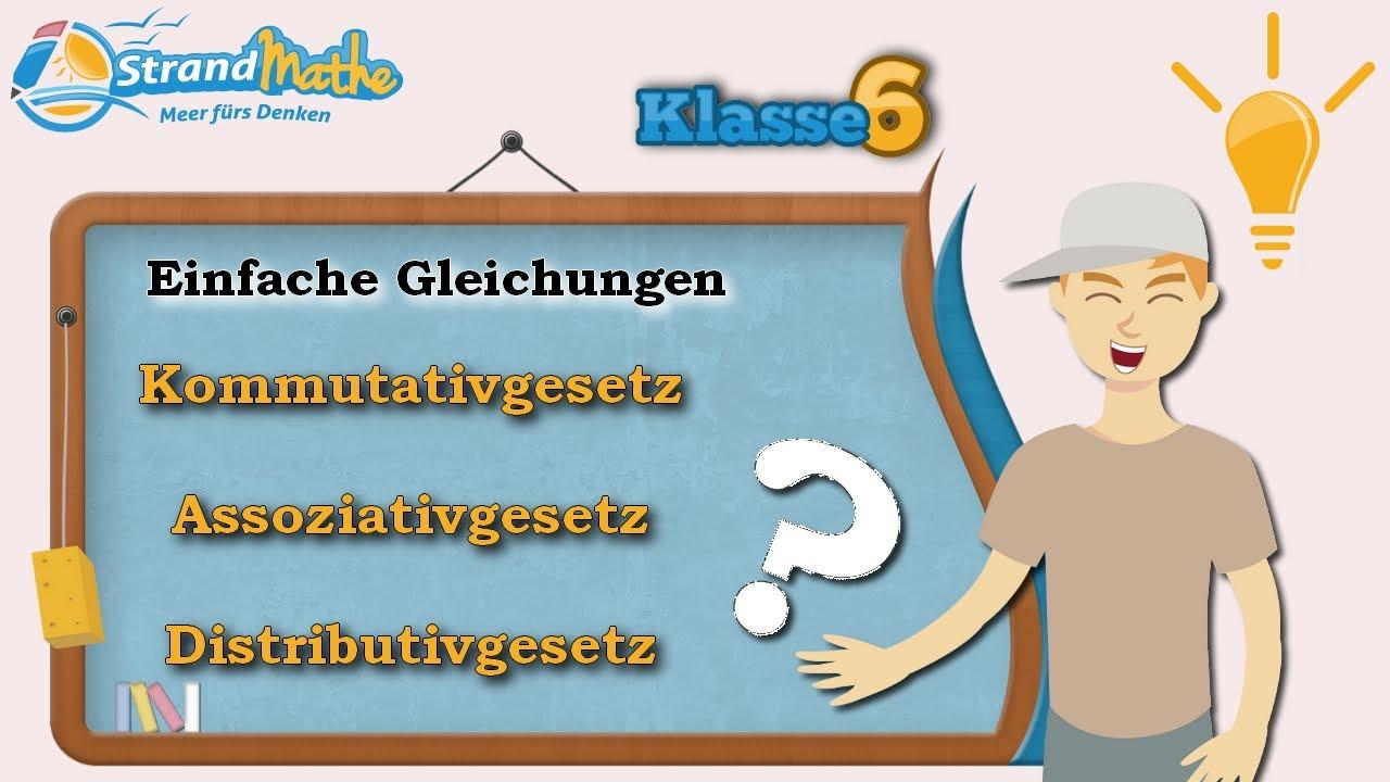 Einfache Gleichungen || Ganze Zahlen - Klasse 6 ☆ Wissen - YouTube