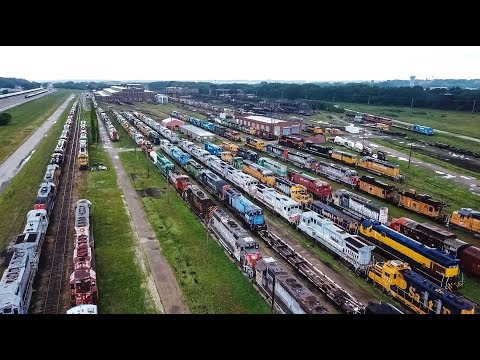 National Railway Equipment Yard 2018 Update In Silvis Illinois By Drone 4K
