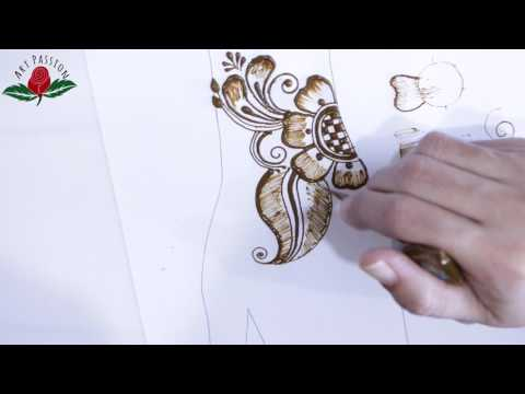 practice 5: Practice and learn  simple Arabic style  mehendi design :Hindi