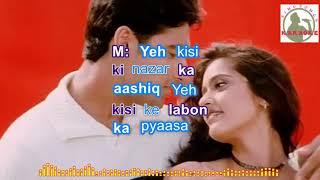 YEH DIL AASHIQANA Hindi karaoke for Male singers