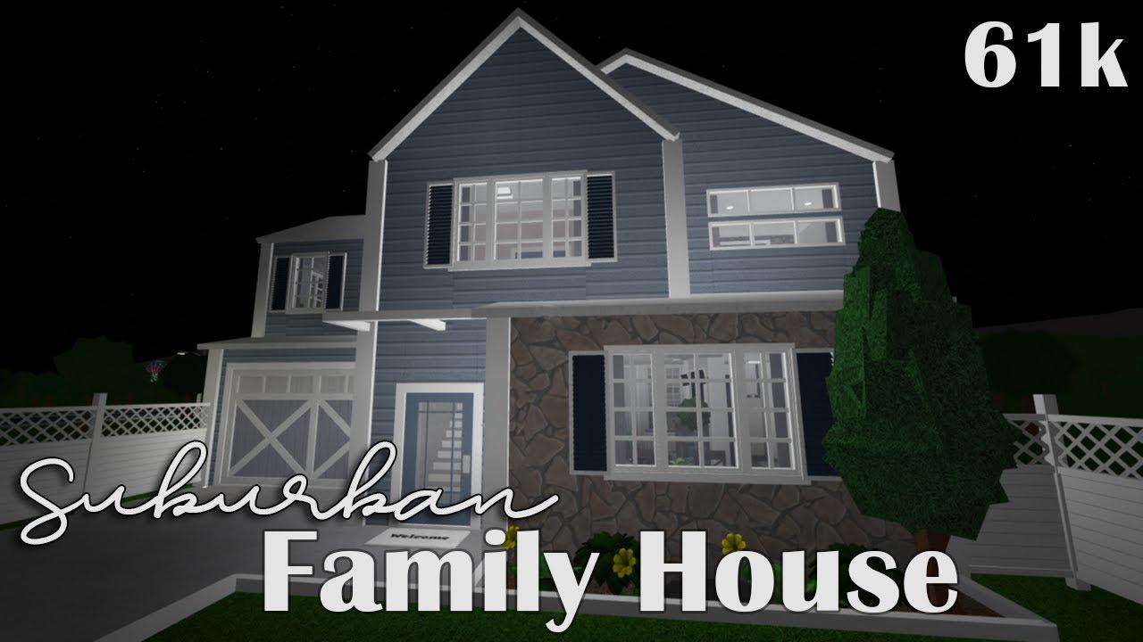 Bloxburg Suburban Family House 61k Youtube