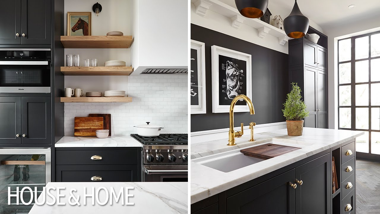 Kitchen Makeover Black Brass