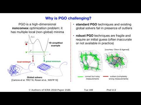 Convex Relaxations for Pose Graph Optimization with Outliers - YouTube