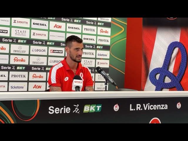 CALCIO - Il post gara di Davide Lanzafame, LR Vicenza vs Cagliari (Amichevole)