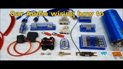 How to Connect Multiple Amps And Wire Up A System