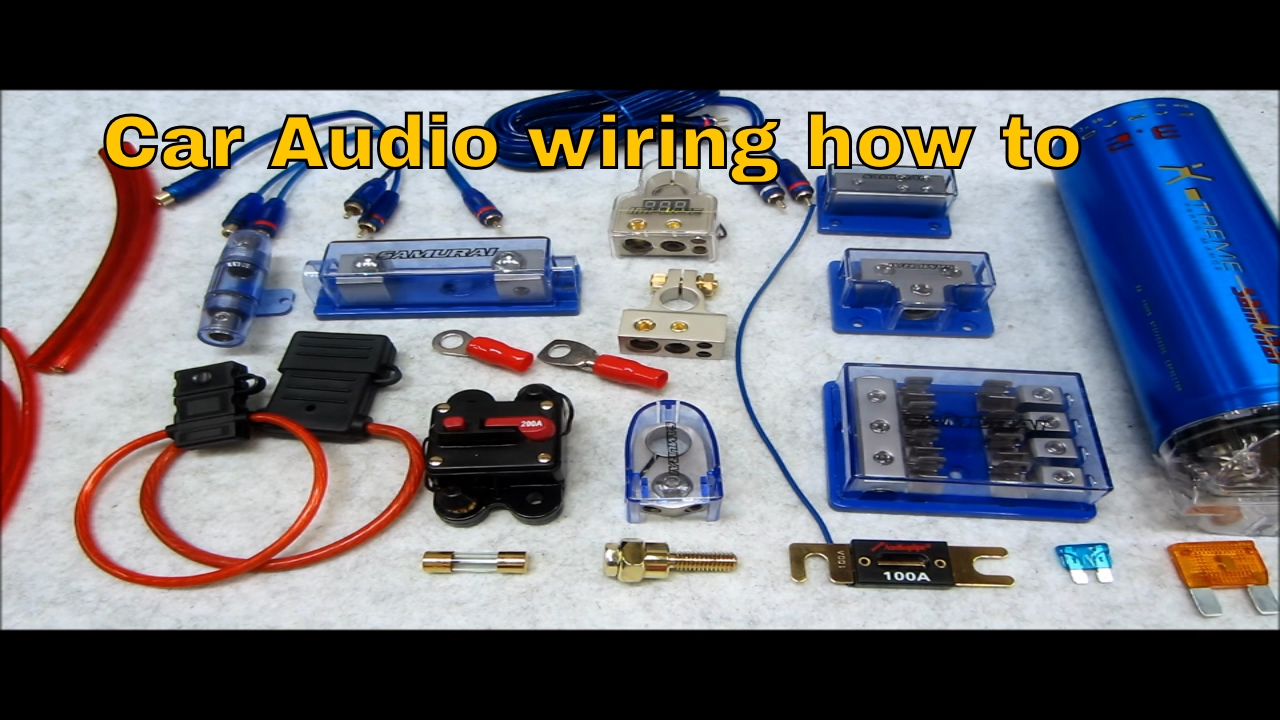 car capacitor wiring diagram audio diagrams for caravan solar system how to connect multiple amps and wire up a - youtube