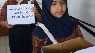 Dukungan untuk Kak Rio Haryanto dari SMP Labschool Cibubur
