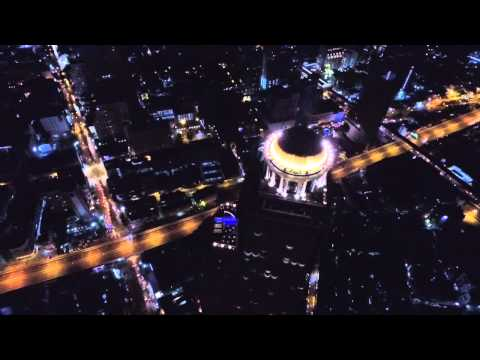 Bangkok - Chao Phraya River Night Aerial View by VTC Drone