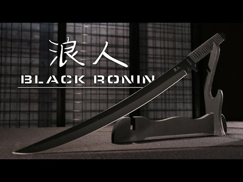 Black Ronin Samurai Sword with Shoulder Scabbard