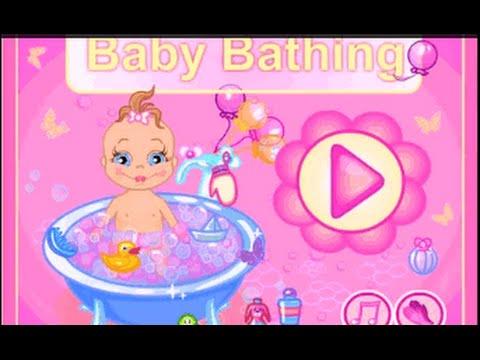 baby bathing shower care online game dress up games for children youtube. Black Bedroom Furniture Sets. Home Design Ideas