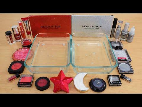 Download Red vs Silver - Mixing Makeup Eyeshadow Into Slime ASMR 278 Satisfying Slime Video