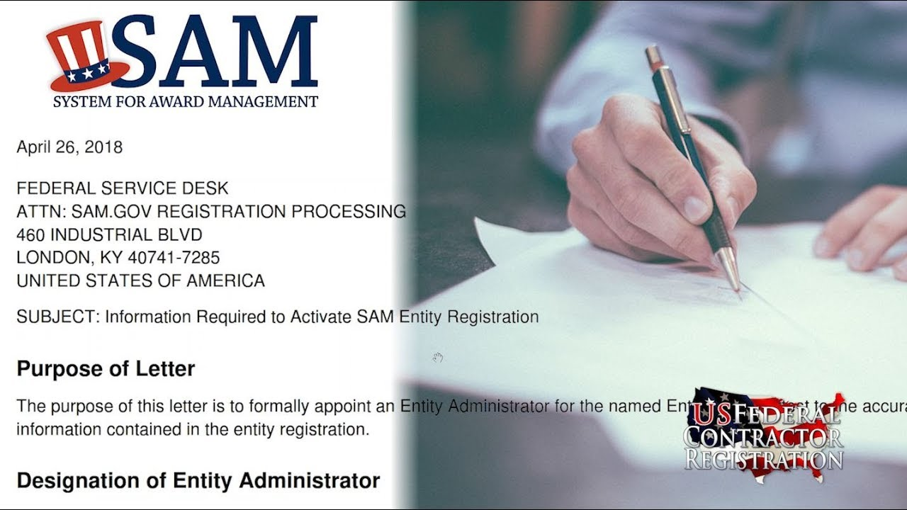 Completing the SAM.GOV Entity Registration Notarized Letter   YouTube