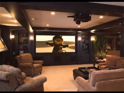 diy basement media room decorating ideas - youtube