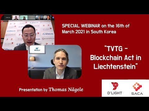 (SACA) TVTG Blockchain Act in Liechtenstein