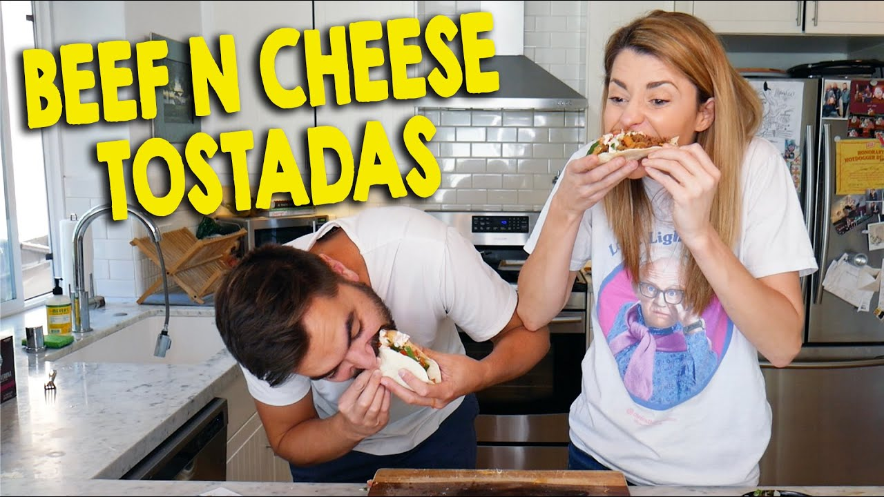 HOW TO: BEEF N CHEESE TOSTADAS // Grace Helbig