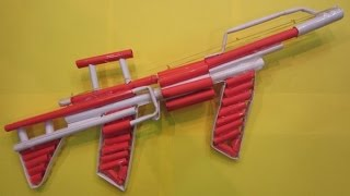 How To Make A Paper Gun That Shoots 8 Bullets ( With Trigger ) - M249 Paper Gun