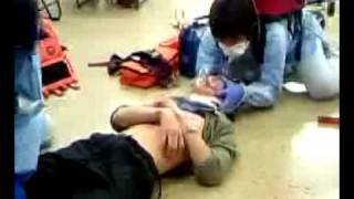 救急救命士 湘央生命科学技術専門学校 救急救命学科デモ(2009年8月5日)