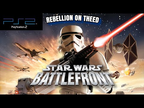 Star Wars Battlefront PS2 Gameplay: Historical Campaign - Clone Wars, Rebellion On Theed (VICTORY) |