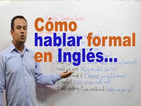 Que significa formalmente en ingles