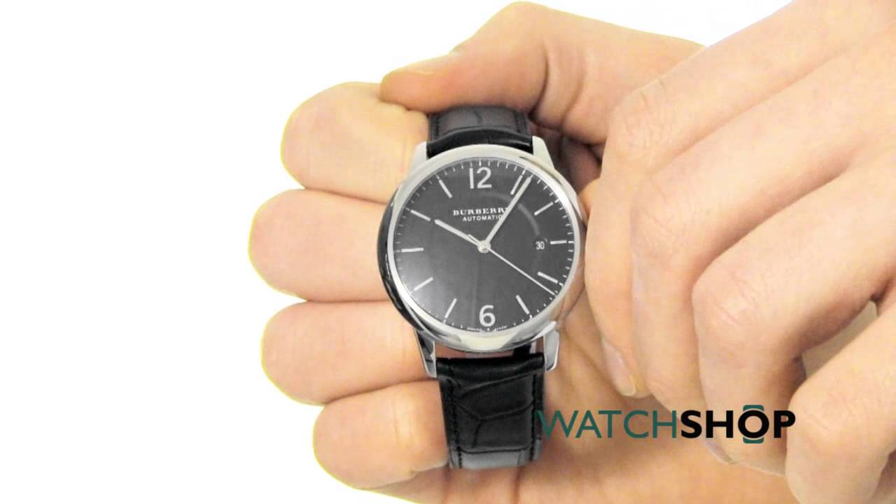 b22e38275b0 Burberry Men s The Classic Round Automatic Watch (BU10300) - YouTube