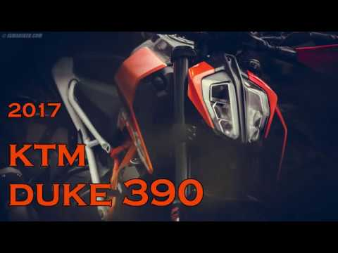 2017 KTM DUKE 390 - Metal head rider style.