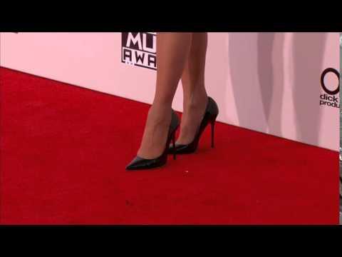 Paula Abdul Red Carpet Fashion - American Music Awards 2015