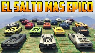EL SALTO MAS EPICO CON DOBLE VOLTERETA - Gameplay GTA 5 Online Funny Moments (Carrera GTA V PS4)