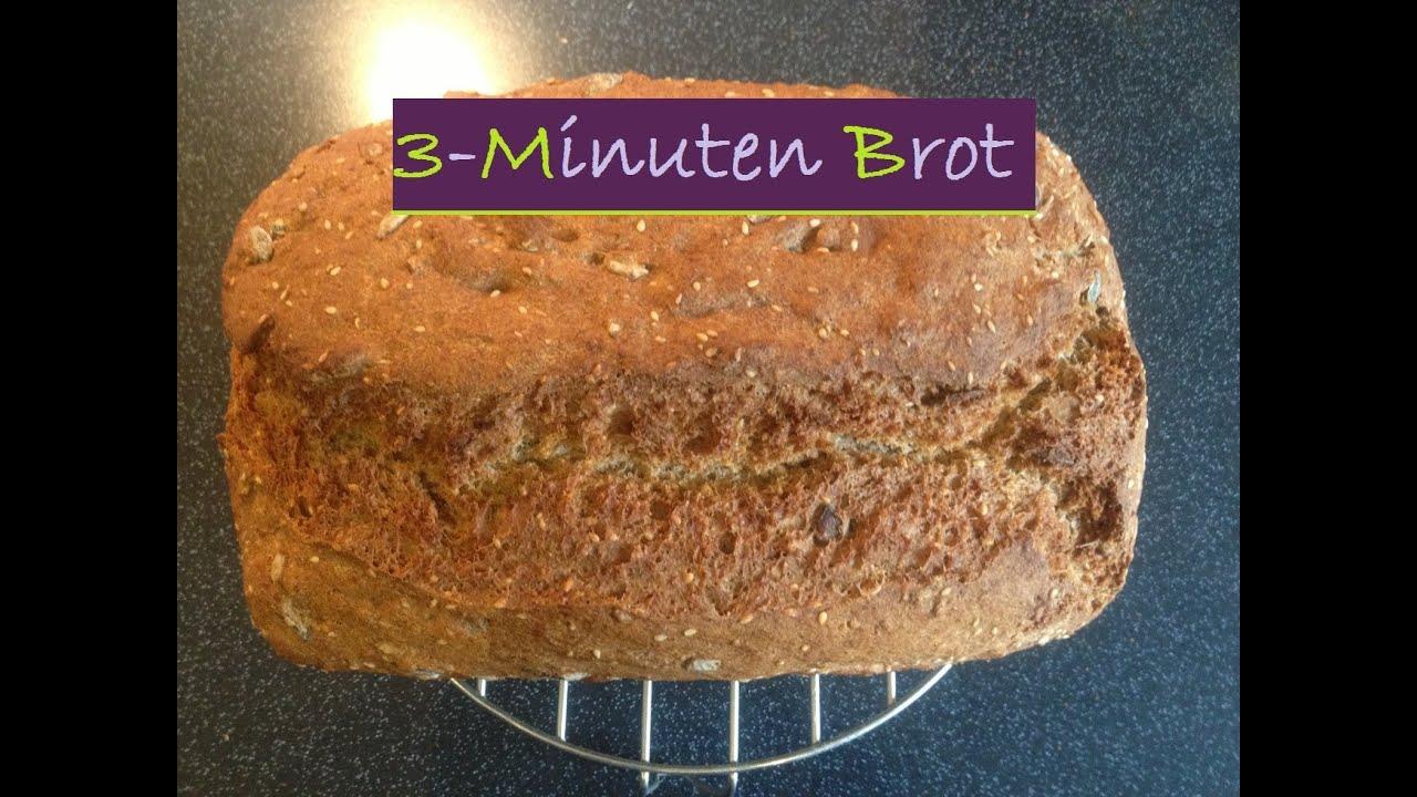 Rezept - 3 MINUTEN BROT - Lecker, Kinderleicht und blitzschnell