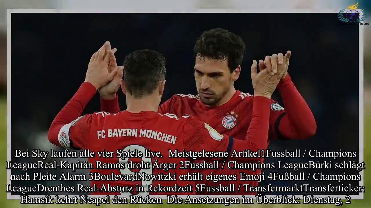 Dfb Pokal Viertelfinale Bayern Munchen Nicht Im Free Tv