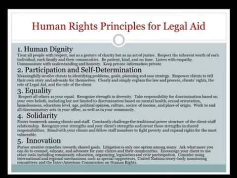 Human Rights Principles for Legal Aid