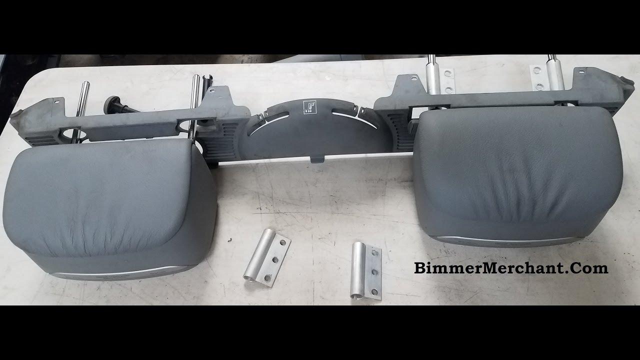 Convertible Rear Headrest Removal BMW E46 M3 330ci 325ci ...