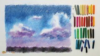 """Курс рисования """"Сухая пастель"""" Начинающие. Урок 2-2. Небо."""
