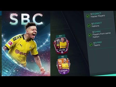 We Got 98 OVR SBC Master Sancho In FIFA Mobile 20! Completing Every Advanced SBC!
