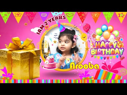 Happy Birthday Song For Kids || Arooba Birthday Celebration || Happy Birthday Song Remix 2020