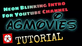 Neon Blinking Intro For YouTube Channel Mobile Video Editing Tutorial screenshot 5