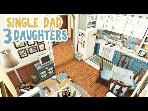 Single Dad And 3 Daughters || The Sims 4 Apartment Renovation: Speed Build