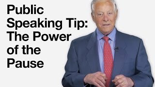 Public Speaking Tip  The Power of the Pause