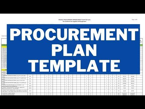 Procurement Plan Template | Procurement Management Plan