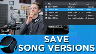 How to save Studio One Songs - All Options Explained!