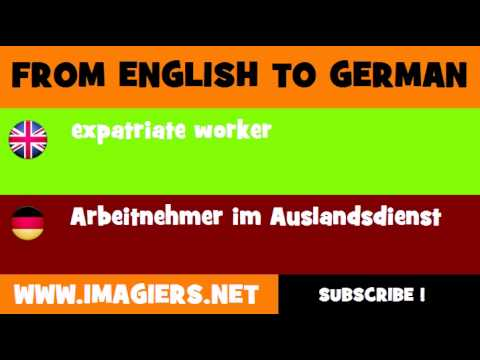 FROM ENGLISH TO GERMAN = expatriate worker